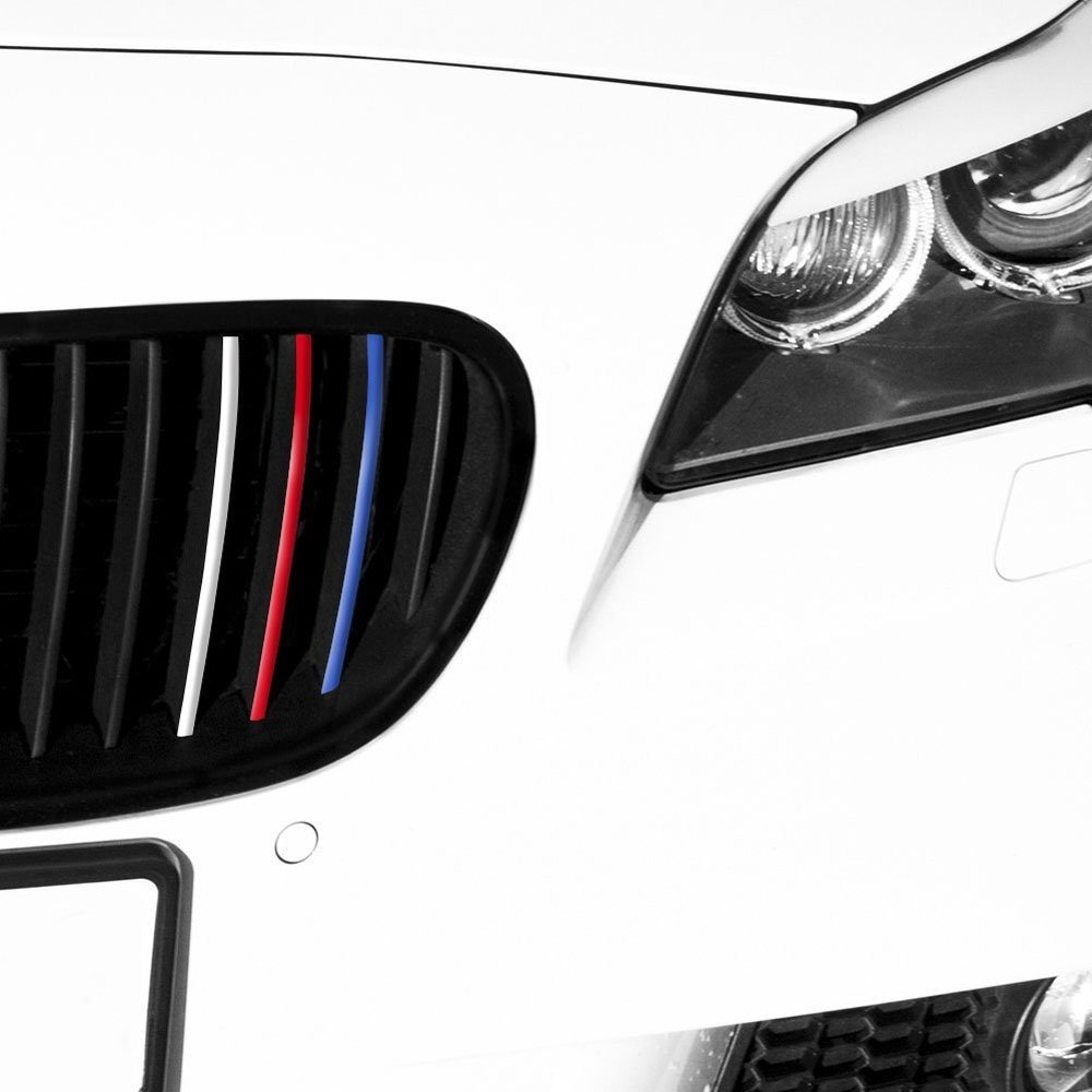 Front Grill Vinyl Strip Sticker Decal For BMW M M E E E - Bmw grille stripe decals