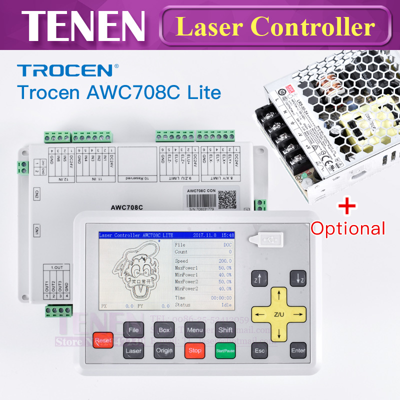 Trocen Anywells AWC 708C Lite CO2 Laser Controller DSP System Motherboard Replace AWC608 For Cutting Engraving Machine PartsTrocen Anywells AWC 708C Lite CO2 Laser Controller DSP System Motherboard Replace AWC608 For Cutting Engraving Machine Parts