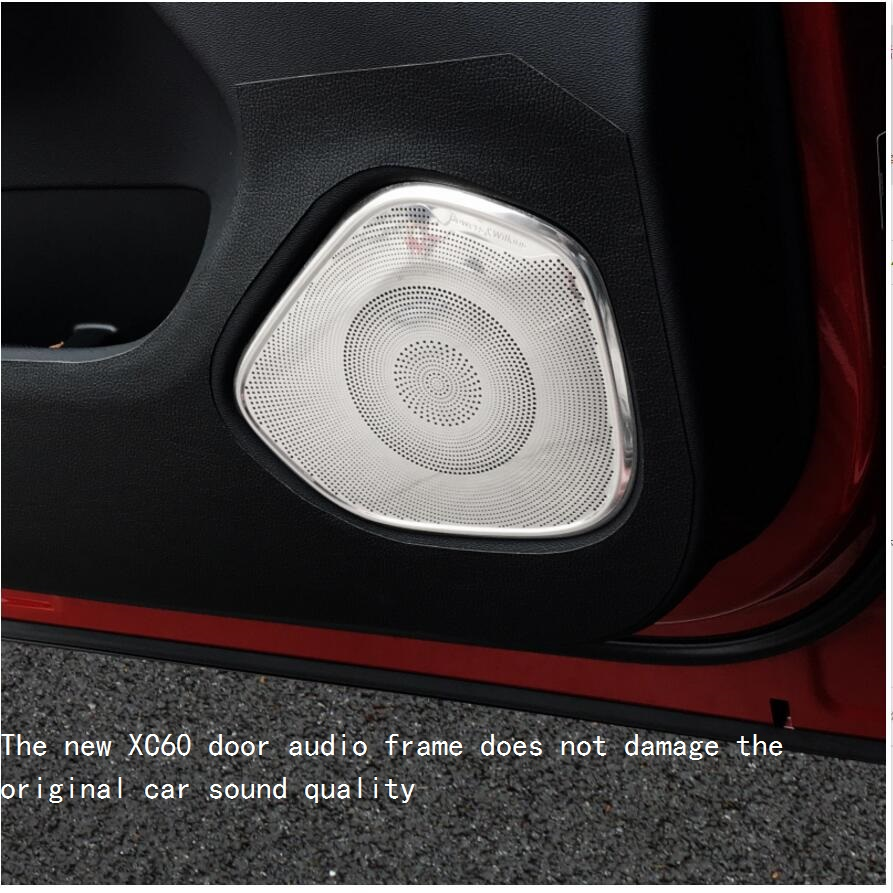 2018 2019 model for Volvo xc60 door speaker frame xc60 door speaker cover stainless steel door