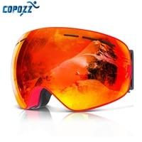 COPOZZ Brand Ski Goggles Men Women Snowboard Goggles Glasses For Skiing UV400 Protection Skiing Snow Glasses