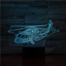 UH-60 Utility Helicopter Warplane Model Usb 3d Led Night Light Black Hawk Fighter gece lambas Plane Table Lamp Bedside сковорода amt frying pans 28 см