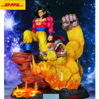 16 Dragon Ball Statue Son Goku VS Monkey Bust Super Saiyan Full Length Portrait With LED Light GK Action Figure Toy 40CM B801