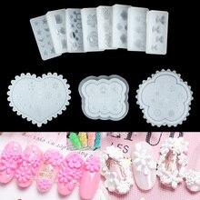 Molde de silicona para decoración de uñas, molde de estrellas, Luna, Mickey Mouse, formas de flores y conejo, pegamento para uñas Diy para decoración artística de uñas, 1 unidad