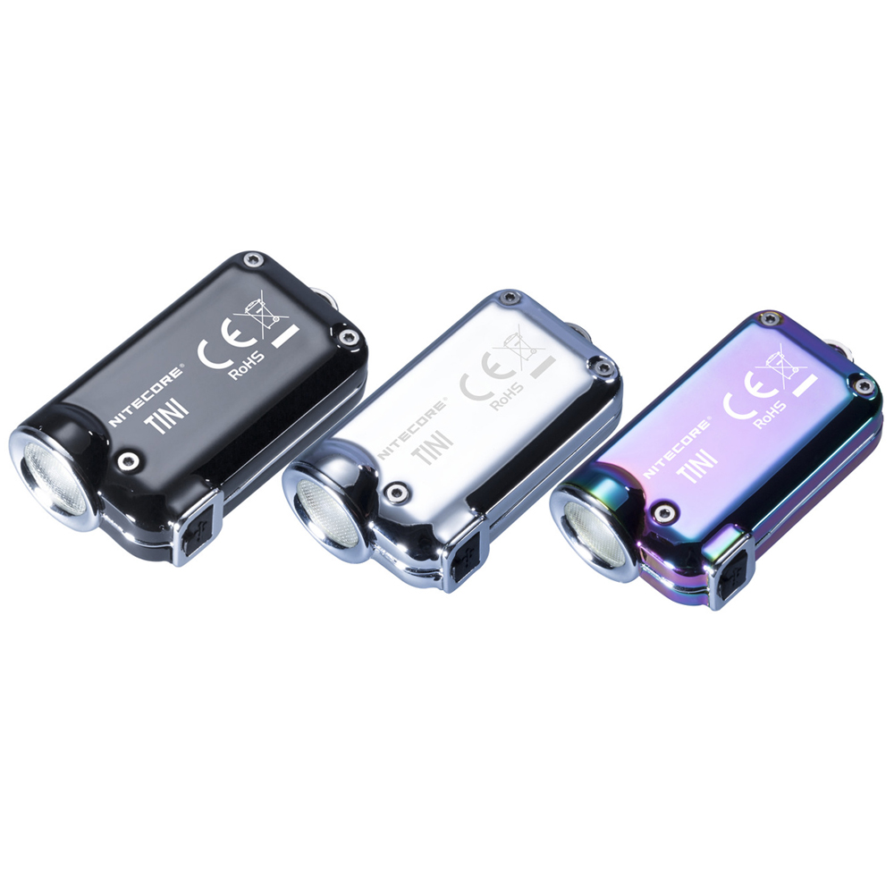 NITECORE TINI SS mini Stainless Steel Key Light CREE XP G2 S3 max 380 lumen beam throw 64m EDC small torch mini flashlight-in Flashlights & Torches from Lights & Lighting    1
