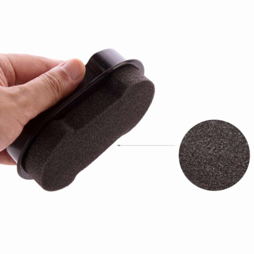 1 Pcs Rápida Lustrar Sapatos Escova de Limpeza líquido De Limpeza de cera De Polimento De Couro brilhando Esponja polidor de Sapato Bota saco sofá