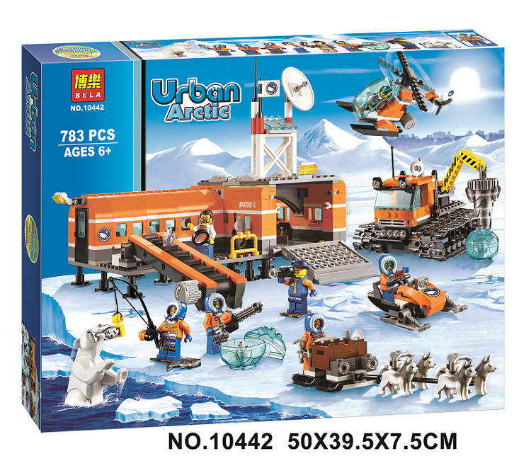 Original BELA 10442 Compatible Lepin City figures Brick Arctic Base Camp 60036 Building Blocks Model Toys For Children lepin 02012 city deepwater exploration vessel 60095 building blocks policeman toys children compatible with lego gift kid sets