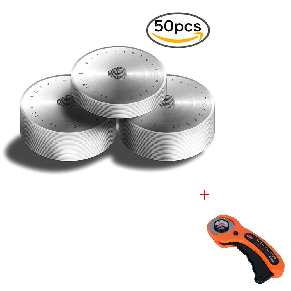 Dropshipping 50 pcs 45 MM Rotary Cutter Lames + Rotary Cutter