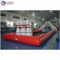 Carnival games inflatable bowling lanes price ,outdoor course 10*3m inflatable bowling alley with bowling pins