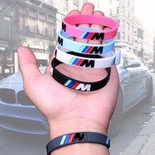Hot Sale 2pcs Logo Engrave Fashion Bracelets Sport M Power Black Silicone Wristb