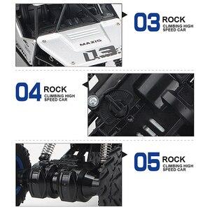 Image 5 - 1:16 4WD RC Car Rock Crawlers Drive Car Double Motors Drive Bigfoot Car Remote Control Car Off road Vehicle Toy Car For Kid