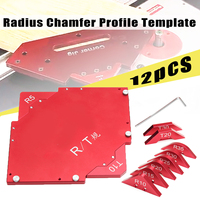 Router Table Corner Jig Radius Chamfer Profile Template Kits Aluminium Alloy For Woodworking Trimming Tool Set