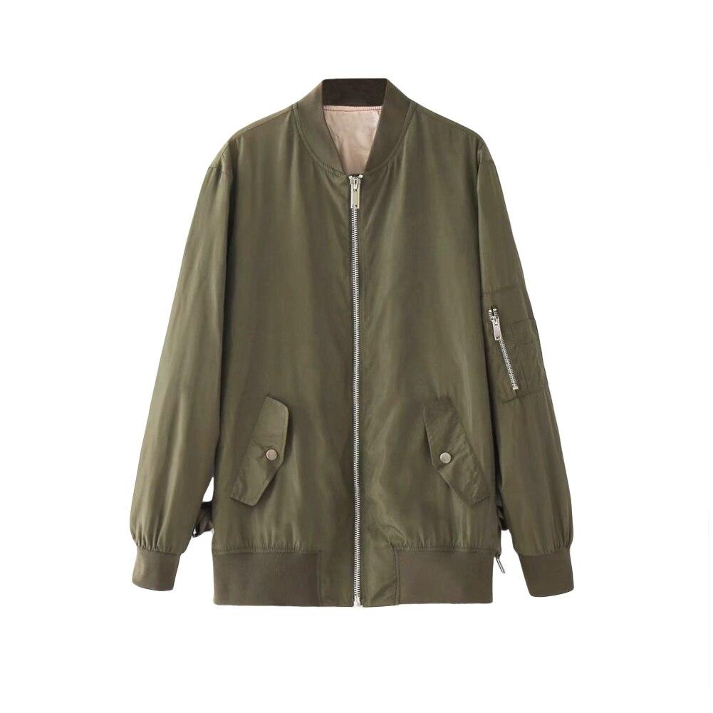 2019 Autumn Women   Basic   Coat Casual Long Sleeve Bomber   Jacket   Lace Up Winter Coat Loose Outerwear   Basic     Jacket   Casaco Feminino