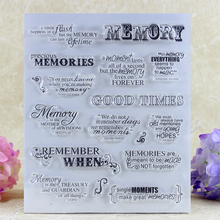 MEMORY Clear Silicone Stamps for DIY Scrapbooking/Card Making/Kids Crafts Fun Decoration Supplies