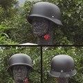 De PUNTO Unisex Retro Motorcycle Helmets Mate Negro Alemán Half Face Helmet Chopper Cruiser Biker M/L/XL