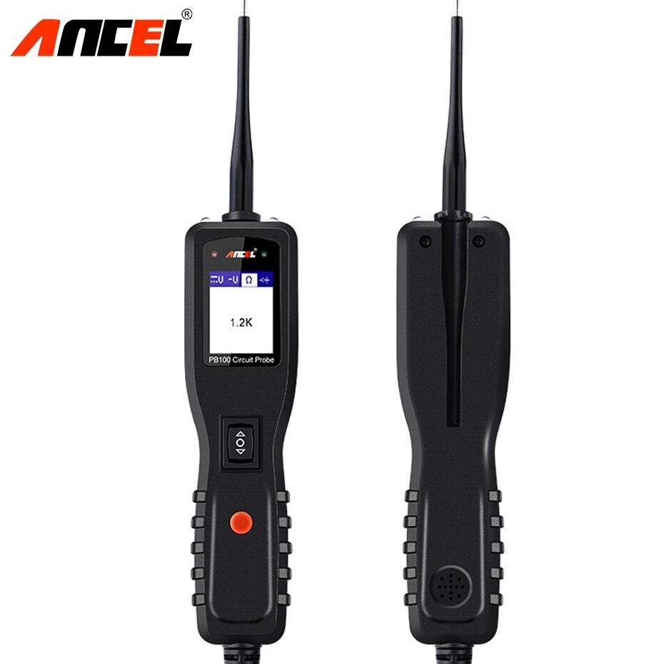 Ancel Powerscan 12 v Auto Testeur De Circuit de Voiture Système Électrique Outil De Diagnostic Super Puissance Sonde De Voiture AC DC Testeur de Tension PB100