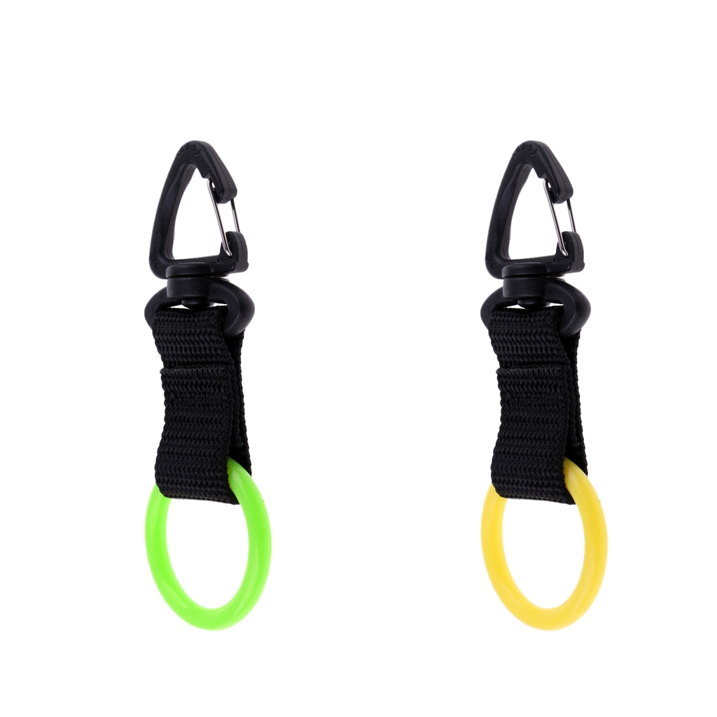 Universal Silicone Scuba Diving Webbing Regulator Octopus Mouthpiece Holder Retainer & Snap Clip Hook - Lightweight & Portable
