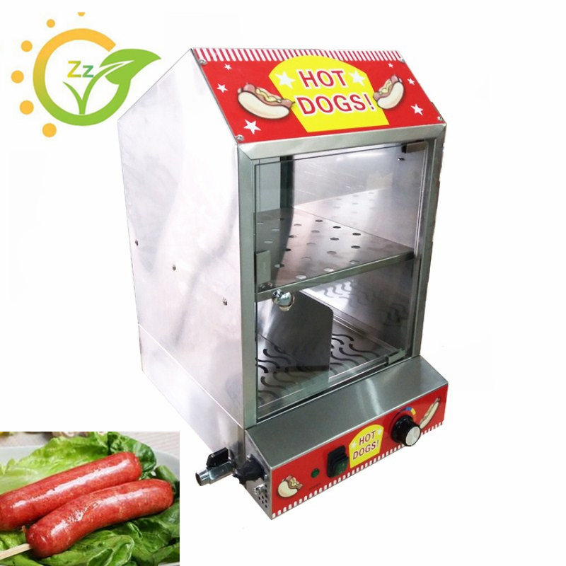 220V Commercial Hot Dog Display Showcase Electric Countertop for Cake Bread Steamer Machine Keep Warmer ce appvide commercial 220v countertop electric hot dog steamer warmer display showcase