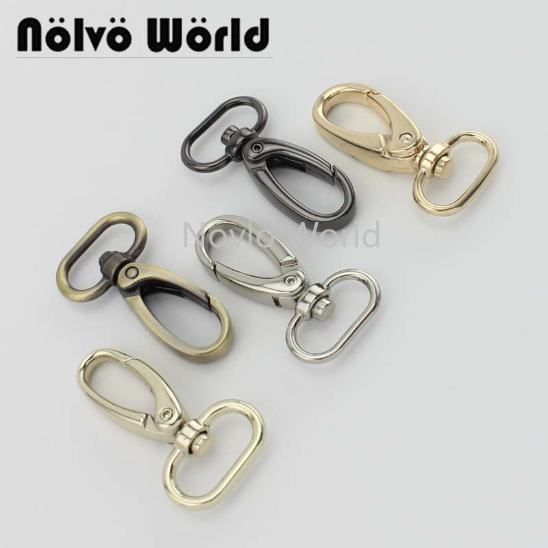 Wholesale 500pcs, 5 Colors Accept Mix Color, 46*19mm 3/4 Inch Metal Trigger Snap Hook Handbag Purse Adjusted Swivel Clasp Hooks