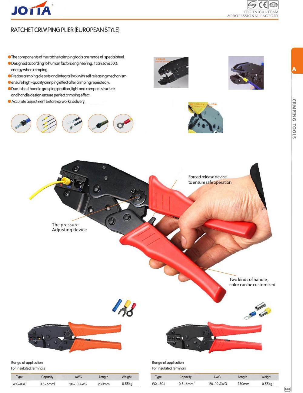 Ratchet Crimping Plier (Eur)4 B