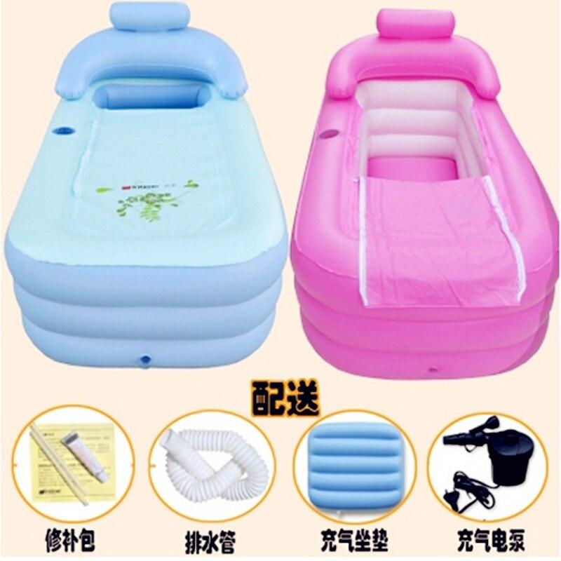 2016 baignoire gonflable précipitée limitée Spa adulte baignoire Portable pliante baignoire gonflable avec coussin + pompe électrique