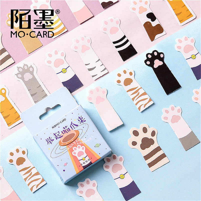 2019 NEW Cat Hands Stationery Stickers Diary Handmade Adhesive Paper Japan Sticker Scrapbooking Stationery