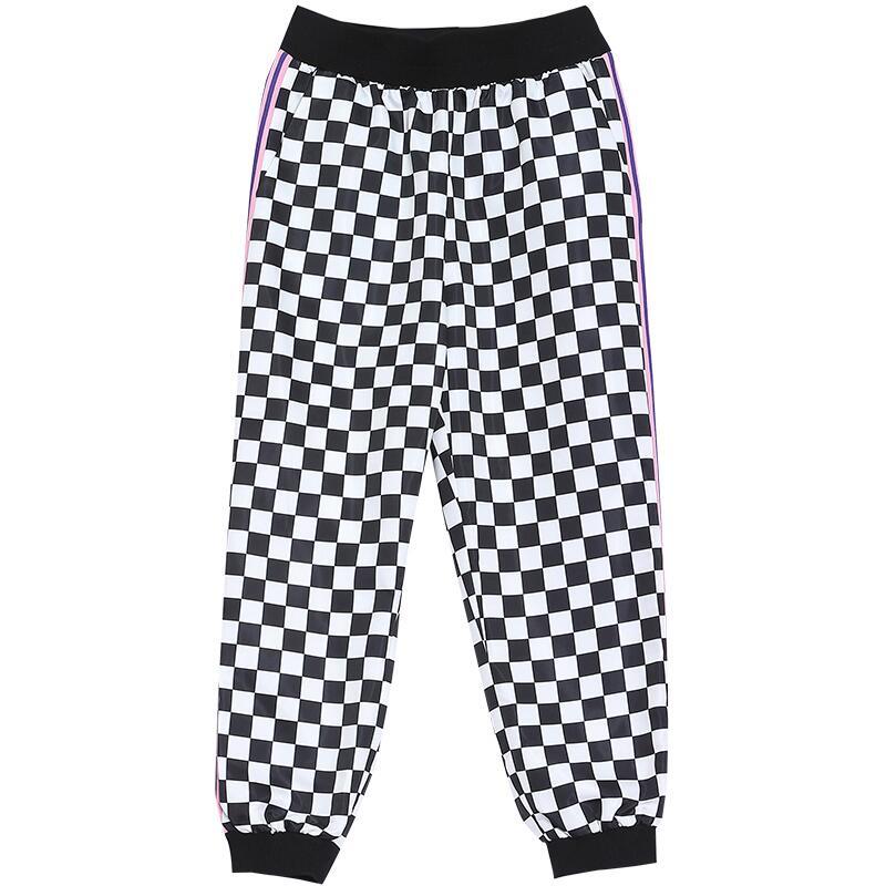 As Plaid Show Femmes Impression 2019 Taille Harem Haute Pantalon longueur Pantalons Cheville Mode Printemps De 4q5qx6zO