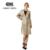 Naked zebra 2016 estilo coreano oficina elegante de tres colores de la cintura con cordón largo foso para las mujeres casual cazadora femenina