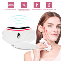 Face Neck Massager Gua Sha Lifting Electric Double Chin Remove Papada Slimmer Anti Wrinkle Ultrasonido Skin Care Tools Scraping