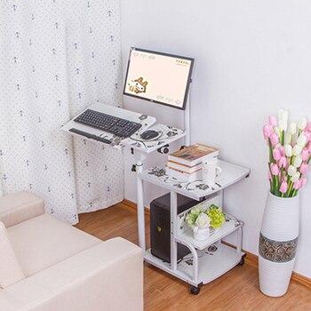 European Laptop Table Multi-functional Hanging Desktop Computer Desk Home Seamless Bedside Table Creative Rotating Laptop Desk 1