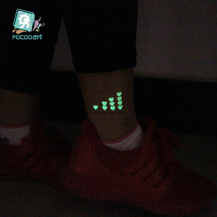 Technology Icons Tattoo Luminous Glowing in Dark Waterproof