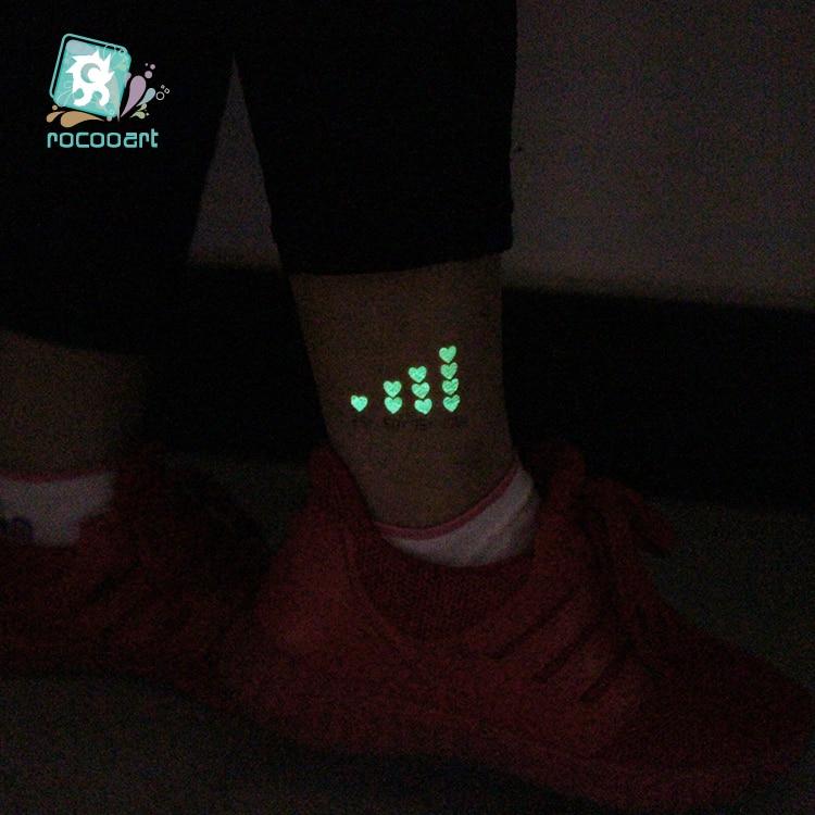 Technology Icons Tattoo Luminous Glowing in Dark Waterproof