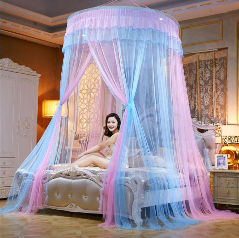 NEW Arrival Princess Mosquito Net Double Bed Curtains Sleeping Curtain Bed Canopy Net Full Queen King Size Net 150cm diamter
