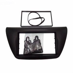 Image 5 - 2 din painel de rádio do carro fáscia apto para 2006 mitsubishi lancer ix facia dvd quadro + centro controle ac capa guarnição moldura instalar kit