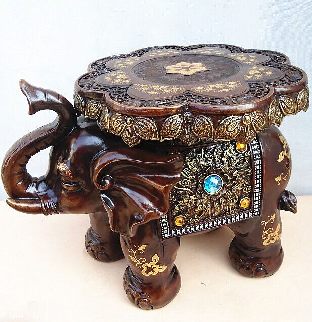 home decoration accessories elephant stool stools for Home Furnishing European style living room decoration elephants pouf poef jingdezhen lang jun kiln ceramics antique red censer living room decoration decoration gift home furnishing