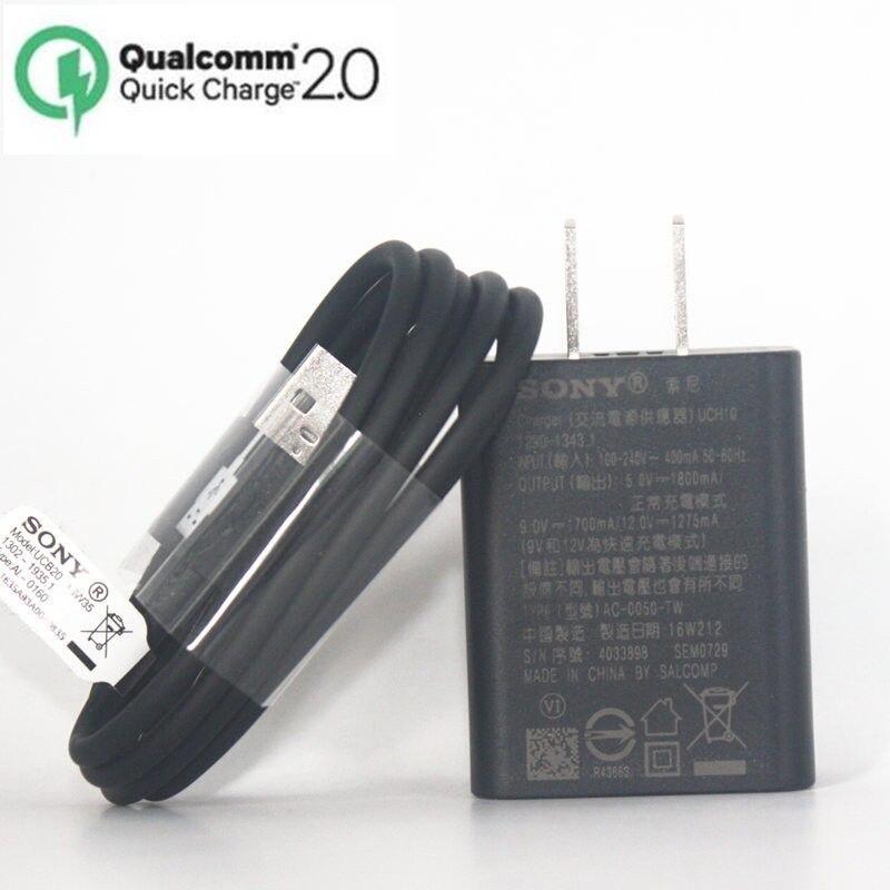 Original Sony UCH10 Fast US <font><b>charger</b></font> Travel <font><b>charger</b></font> + UCB11 Cable For Sony <font><b>Xperia</b></font> <font><b>Z3</b></font> <font><b>Compact</b></font> <font><b>z3</b></font> plus Z1 Z2 <font><b>Z3</b></font> C5 Z5 Z4 Z5P XA XP