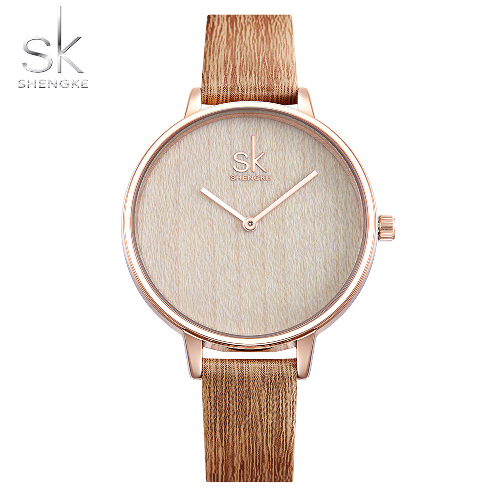 Shengke Wooden Strap Women Watch Casual Leather Wrist Watches Women Dress Ladies Quartz Watch Clock Drop Shipping Reloj MujerShengke Wooden Strap Women Watch Casual Leather Wrist Watches Women Dress Ladies Quartz Watch Clock Drop Shipping Reloj Mujer
