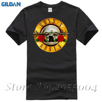 Men T-Shirts Famous Rock Band Guns N Roses Printed 100% Cotton Top Tees3D Men Hot Cheap Short Sleeve Male T-shirt