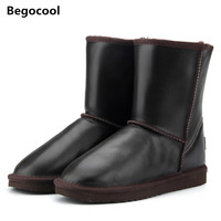 Australia Classic Top Quality Women Genuine Cowhide Leather UG 100 Wool Snow Boots Fur Snow Boots