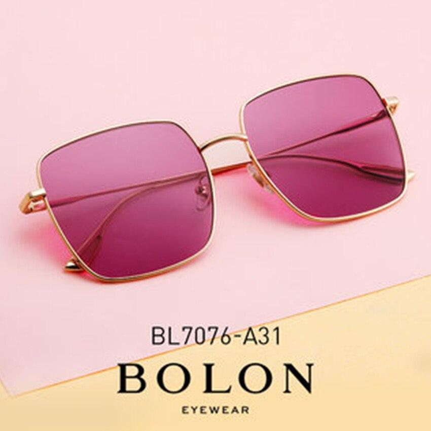 BOLON couleur teinté lunettes de soleil pour femmes mode surdimensionné polarisé foncé soleil nuances UV400 MenBlack soleil verre BL7076