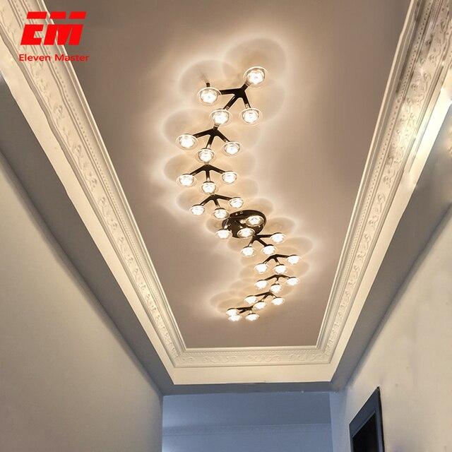 Candelabro led para sala de estar, dormitorio, hogar, Araña de techo moderna, iluminación, candelabro ZZX0008