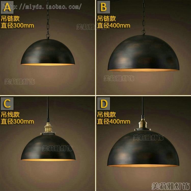 Vintage Pendant Lights Industrial Loft American Retro Lamps creative Restaurant Dining Room Lamp Bar Counter E27 Holder