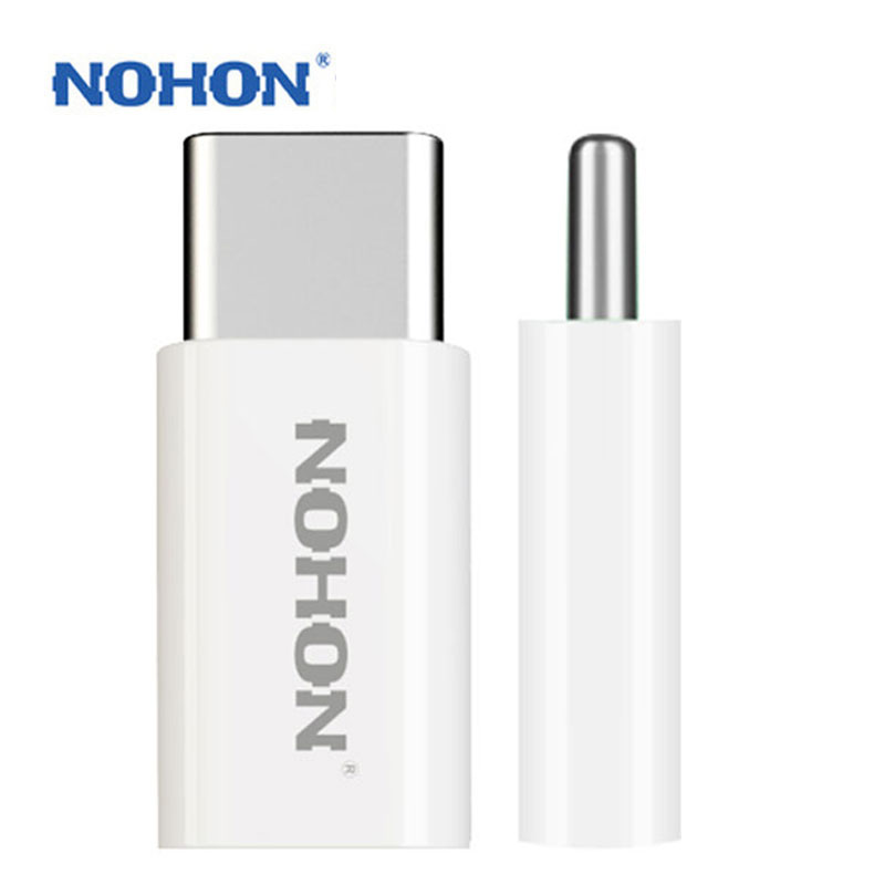 2PCS NOHON USB Type-C Adapter To Micro For Xiaomi 4C Meizu Pro 5 Oneplus 2 Nokia N1 MacBook Zuk1 Cable Charger Connector Plug
