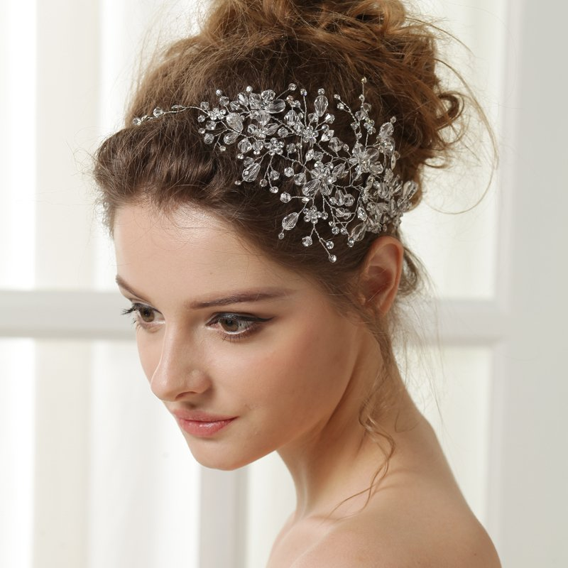 New Wedding Headband Crystal Headbands Rhinestone Bridal Hair Jewelry Accessories Vintage In From Women S