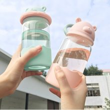 Water Bottle 340 Ml Cartoon Bear Glass Portable Outdoor Travel School  Hydro Flask Mugs and Cups