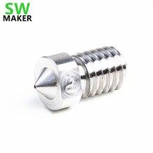 SWMAKER V6 Titanyum alaşımlı meme TC4 1.75mm 0.3/0.4/0.6/0.8/1.0mm sertleştirilmiş yüksek sıcaklık memesi 3d yazıcı için Prusa T...