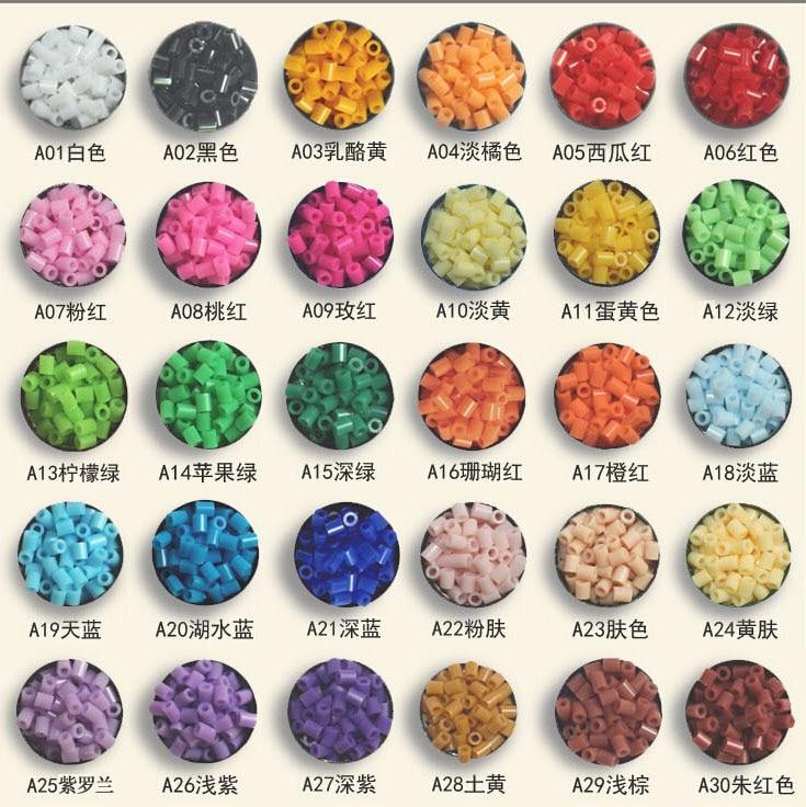 1000pcs /bag 2.6mm mini hama beads About kids toys available perler PUPUKOU beads activity fuse beads(China)