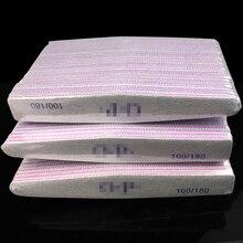 50 X เล็บไฟล์เครื่องมือ Professional โปแลนด์กระดาษทราย Buffing เล็บไฟล์ Unha Limas Para เล็บ Ongle 100/180 Unha เครื่องมือ