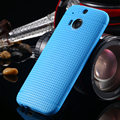 New hot ! Silicone TPU Hole Phone Case for HTC One M8 Fashion Soft Protective Accessories Cover Bags Black Brown for HTC M8