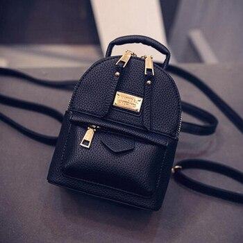 d31144b9cbb9 Женский рюкзак сумка Для женщин сумка-мессенджер мини маленький рюкзак для  девочек ветер искусственная кожа
