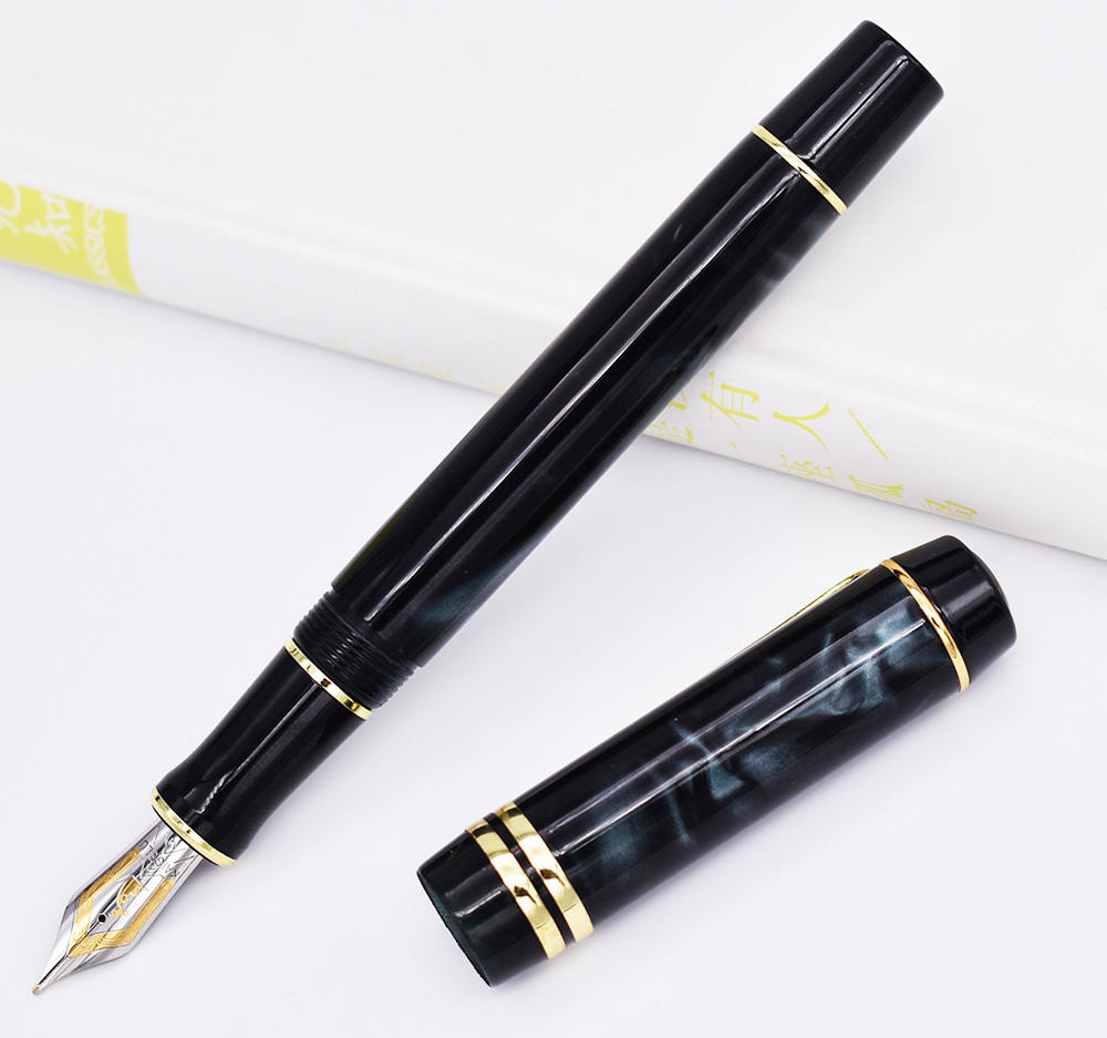 Image 5 - Kaigelu 316 Celluloid Fountain Pen, 22KGP Medium Nib Beautiful Marble Crystal Pattern Ink Pen Writing Gift for Office Business-in Fountain Pens from Office & School Supplies